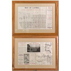 Carmel Advertisement, Framed CA - Carmel,Monterey County - c1902 - 2012aug - General Americana