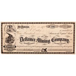 Defiance Mining Company Stock CA - Darwin,Inyo County - 1875 - 2012aug - General Americana