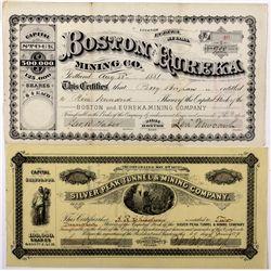 Boston and Eureka Mining Company Stock Certificates CA - Eureka,2012aug - General Americana