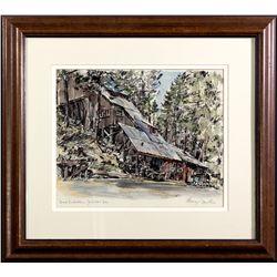 Brush Creek Mine Painting CA - Goodyears Bar,Sierra County - 2012aug - General Americana