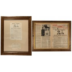 Framed Wanted Posters and Newspaper CA - Grass Valley,Nevada County - c1893, 1968 - 2012aug - Genera