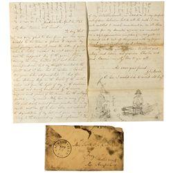 Gold Rush Letter & Art CA - Jacksonville,Tuolumne County - 1861 - 2012aug - General Americana