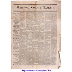 Mariposa County Gazette Newspapers CA - Mariposa, - 1876-1877 - 2012aug - General Americana