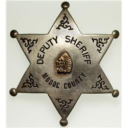 Deputy Sheriff Badge CA - Modoc County,2012aug - General Americana