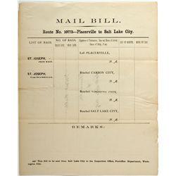 Mail Bill CA - Placerville,El Dorado County - 2012aug - General Americana