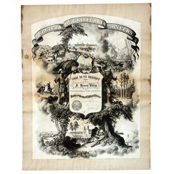 California Pioneer Certificate CA - San Francisco,1865 - 2012aug - General Americana