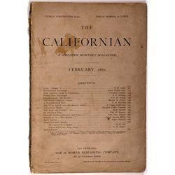 Californian Magazine CA - San Francisco,1880 - 2012aug - General Americana