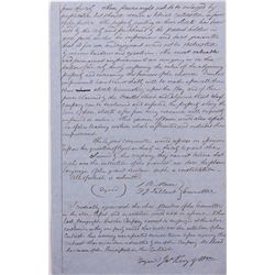 Gold Rush Contract with James King of Williams Signature CA - San Francisco,July 29, 1851 - 2012aug
