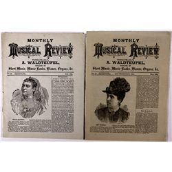 Monthly Musical Review Publications CA - San Francisco,1884 - 2012aug - General Americana