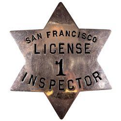 San Francisco Inspector Badge CA - San Francisco,c1910 - 2012aug - General Americana