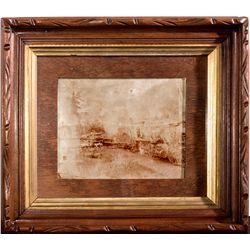 Framed Carson & Tahoe Lumber and Fluming Co. Photograph CA - Tahoe,El Dorado County - c1880 - 2012au