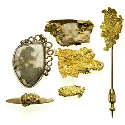 Mounted Gold Jewelry and Other Specimens CA - Yreka,Siskiyou County - 1911-1928 - 2012aug - General