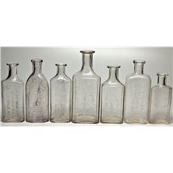 Cripple Creek Area Drug Bottles CO - c1890-1920 - 2012aug - General Americana