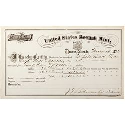 United States (Branch) Mint CO - Denver, - May 19, 1873 - 2012aug - General Americana
