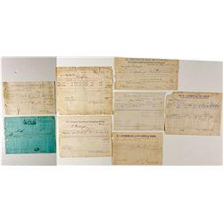 Colorado Assay Receipts Assortment CO - Idaho Springs,Clear Creek County - c1880 - 2012aug - General