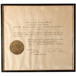 Hawaii Governor Signature HI - Honolulu,1918 - 2012aug - General Americana
