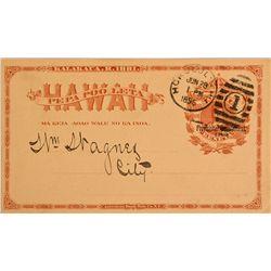Hawaiian Water Bill HI - Honolulu,1895 - 2012aug - General Americana