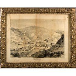 Britton & Rey Framed Lithograph - Atlanta Mine ID - Atlanta,Elmore County - c1880 - 2012aug - Genera
