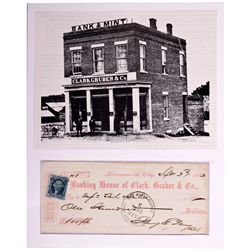Clark, Gruber, and Company Bank Photo and Certificate KS - Leavenworth,1863 - 2012aug - General Amer