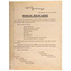 Wells-Fargo Reward Notice New Orleans LA - New Orleans, - 1907 - 2012aug - General Americana