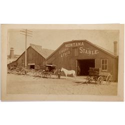 American Express Wagon Photograph MT - Butte,Silver Bow County - c1890 - 2012aug - General Americana