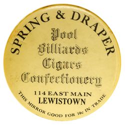 Mirror Token MT - Lewistown,Montmorency County - c1905-1910 - 2012aug - General Americana