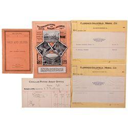 Nevada Mining and Assay Documents NV - , - 1880-1914 - 2012aug - General Americana