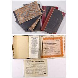 Nevada Mining Co. Ledgers & Stock Certificates NV - 1922, 1935 - 2012aug - General Americana