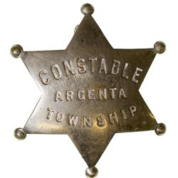 Constable Badge NV - Argenta Township,Lander County - 2012aug - General Americana