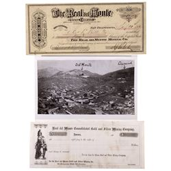 Real del Monte Stock Certificate NV - Aurora,Mineral County -  - 2012aug - General Americana