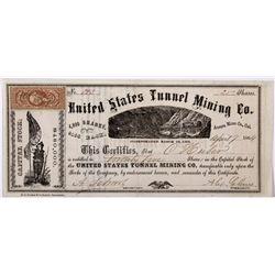 United States Tunnel mine Stock Certificate NV - Aurora,Mono County - 1864 - 2012aug - General Ameri