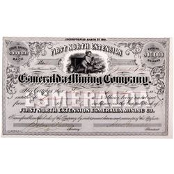 Esmeralda Mine Stock Certificate NV - Aurora Aurora,Mineral County - 1861 - 2012aug - General Americ