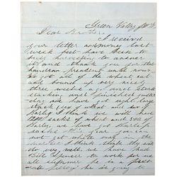 Green Valley/ Austin Letter 1865 NV - Austin,Lander County - 1865 - 2012aug - General Americana