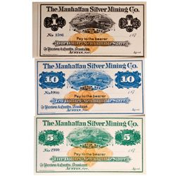 Manhattan Silver Mining Company Stocks NV - Austin,Lander County - c1870 - 2012aug - General America