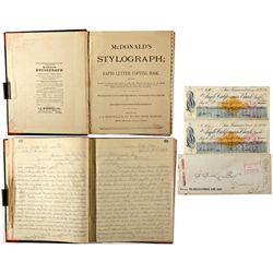 Writing Instruction Book NV - Candelaria,Mineral County - 1877 - 2012aug - General Americana