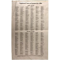 Registered Voters of Carson City List NV - Carson City, - 1904 - 2012aug - General Americana