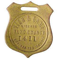 Elko County Hunting License NV - Elko County,1917 - 2012aug - General Americana