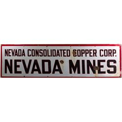 Nevada Consolidated Copper Co. Enameled Sign NV - Ely,White Pine County - c1933-1942 - 2012aug - Gen
