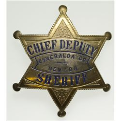 Chief Deputy Sheriff Badge NV - Esmeralda County,2012aug - General Americana