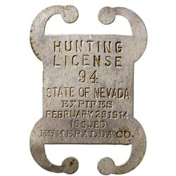 Esmeralda County Hunting License NV - Esmeralda County,1914 - 2012aug - General Americana