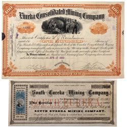 Eureka Consolidated and South Eureka Stock Certificates NV - Eureka, - 1872 - 2012aug - General Amer