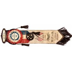 Eureka Western Federation of Miners Ribbon NV - Eureka, - c1907 - 2012aug - General Americana