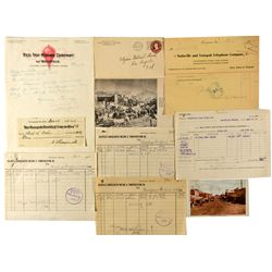Assorted Goldfield Documents NV - Goldfield,Esmeralda County - 1900-1919 - 2012aug - General America
