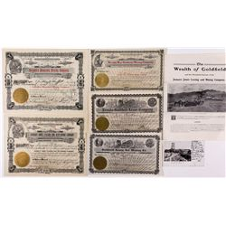 Goldfield Stock Certificates and other Ephemera NV - Goldfield,Esmeralda County - 1905, 1908 - 2012a