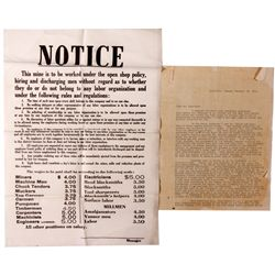 Labor Trouble Letter to Wingfield NV - Goldfield,Esmeralda County - 1908 - 2012aug - General America