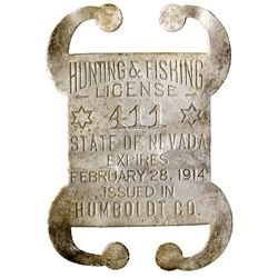 Humboldt County Hunting License NV - Humboldt County,1914 - 2012aug - General Americana