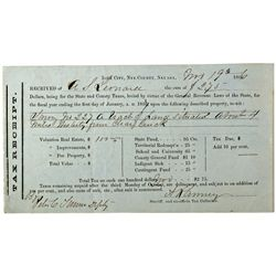 Ghost Town Tax Receipt NV - Ione City,Nye County - 1866 - 2012aug - General Americana