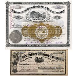 Phenix and St. Peters Consolidated Stock Certificates NV - Lander County, - 1877 - 2012aug - General