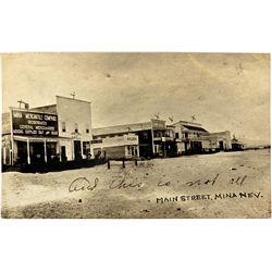 Mina Nevada Postcard NV - Mina,Mineral County - c1908 - 2012aug - General Americana
