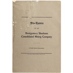 Montgomery Shoshone Consolidated Mining Company By-Laws NV - Rhyolite,Nye County - 1904 - 2012aug -